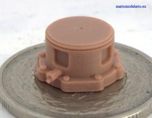 Fragment turbogeneratora do parowozu, skala 1:25