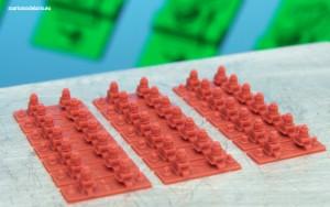 Mocowania typu K do podkładów strunobetonowych, skala 1:25, wydruk 3d