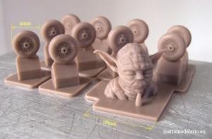 Yoda, wydruk 3D i kółka do samolotów