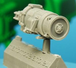 Prądnica (turbogenerator) parowozu, w skali 1:25