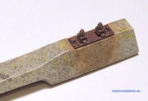 Podkład strunobetonowy (betonowy) skala 1:25 - malowanie i waloryzacja