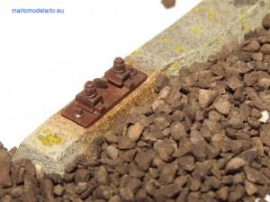Podkład strunobetonowy (betonowy) skala 1:25 - tłuczeń