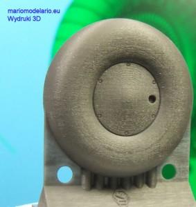 Koło PZL-37 1:33, wydruk 3D