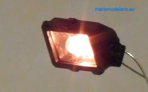 Lampa korbowodowa parowozu, wydruk 3d, skala 1:25