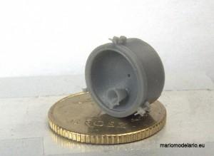 Reflektor parowozu, wydruk 3d, skala 1:45