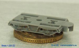 Wózek, druk 3D, skala Z 1:220